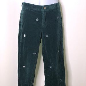 Vineyard Vines boys snowflake corduroy pants